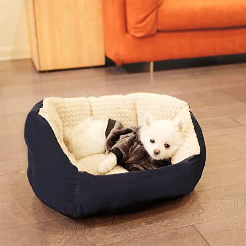 Lunch box Do not unwash the four seasons universal pet nest mat puppy small dog teddy cat nest winter Palm Nest - Blue 42cm x 42cm x 22cm by Yshen