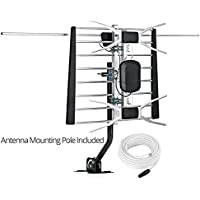 ViewTV 80 Miles Range Digital Passive Outdoor / Indoor Attic HDTV Antenna with Included Mounting Pole