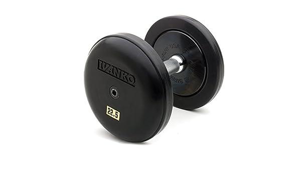 Ivanko - Juego de mancuernas de goma de nivel profesional - 5 - 50 libras. Set: Amazon.es: Deportes y aire libre