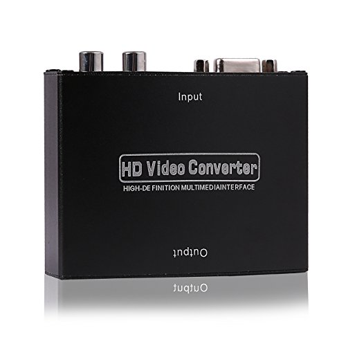(HDE VGA w/Audio to HDMI Video Scaler Converter Box with Power Adapter VGA to HDMI Adapter)