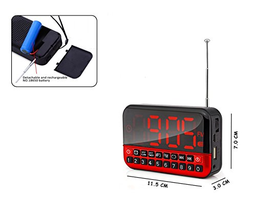 from usa heqiao digital radio portable clock radios loud rechargeable large led display audio. Black Bedroom Furniture Sets. Home Design Ideas