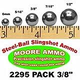 2,295 Pack 3/8'' Steel-Ball Slingshot Ammo (18 Lbs)