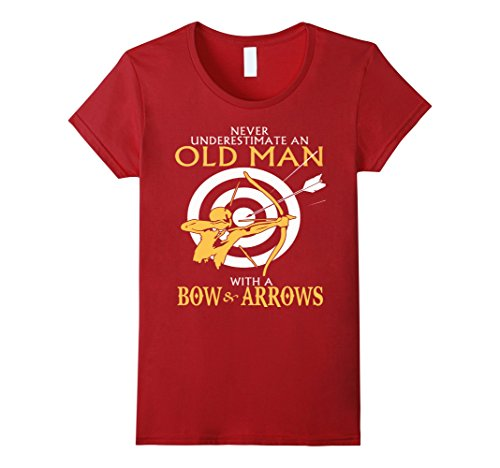 Womens An old man with a Bow AND ARROWS Tshirt Medium Cra...