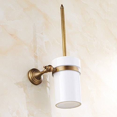 XY&XH Toilet Brush Holder , Antique Antique Copper Wall Mounted Toilet Brush Holder
