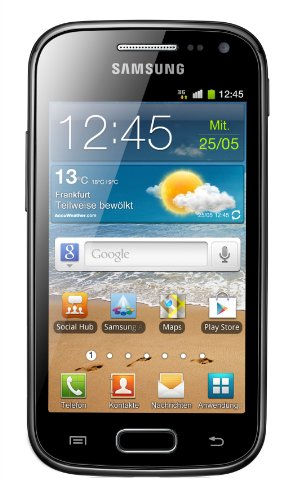 Samsung Galaxy Ace 2 I8160 Smartphone mit NFC (9,7 cm (3,8 Zoll) Touchscreen, 5 Megapixel Kamera, Android 2.3) onyx-black mit NFC