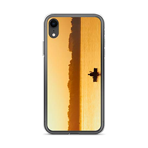 - iPhone XR Case Anti-Scratch Motion Picture Transparent Cases Cover Fisherman During Sunset Movies Video Film Crystal Clear