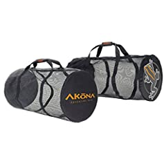 The ideal beach or play companion. Local or traveling to your Adventure, the Mesh Duffel from AKONA carries equipment effectively. The Lightweight Mesh allows you to rinse or clean all your gear without removing the gear from the bag. Rinse a...