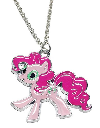 My Little Pony Pinkie Pie Character Enamel Filled Pendant NECKLACE]()