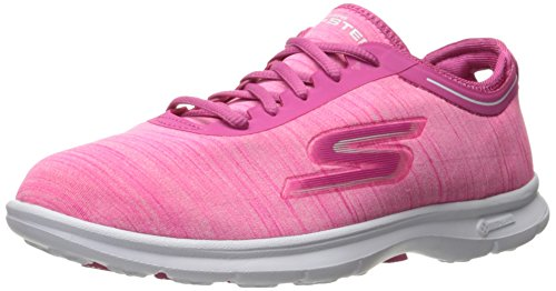 Skechers Performance Womens Go Step Scarpa Da Passeggio Stringata Calda Rosa Heather