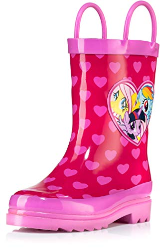 My Little Pony Rainbow Girl's Pink Rain Boots - Size 12 Little -