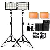 Kit 2 pcs Iluminador Refletor LED para Fotografia e Vídeo com bateria 11W