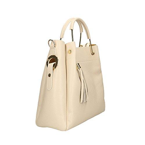 A Da Cm Beige Donna Pelle Made Mano In Handbag Aren Italy 33x30x13 Vera Borsa n7Z6IEqqp