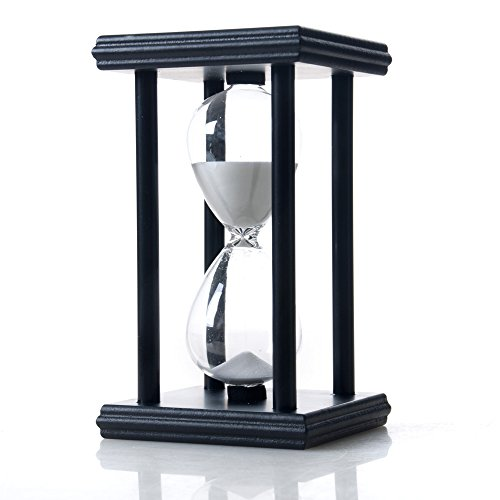 Bellaware Hourglass Sand Timer, 30 Minutes Wood Sand Clock