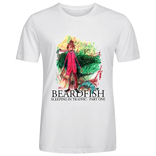beardfish-sleeping-in-traffic-part-one-mens-round-neck-unique-tee-shirt-white