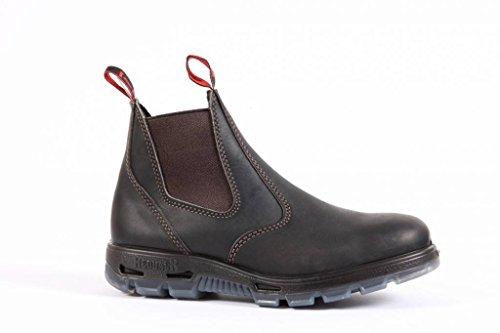 RedbacK Men's Bobcat UBOK Dark Brown Elastic Sided Soft Toe Leather Work Boot (US9/AU8 Mens) (Best Australian Made Work Boots)