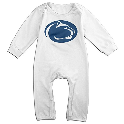 KIDDOS Baby Infant Romper Penn State University Long Sleeve Jumpsuit Costume,White 6 M