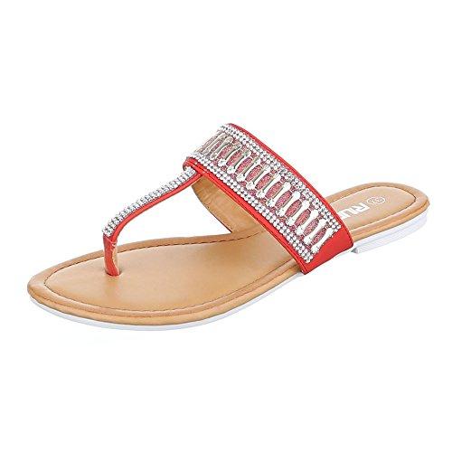Ital-Design - Zapatos con tacón Mujer Rojo