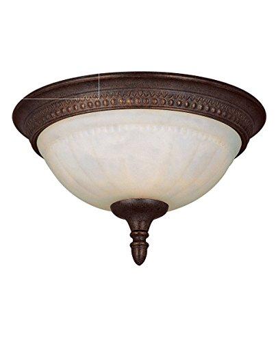 Savoy House KP-6-506-11-40 Flush Mount with Cream Marble Shades, Walnut Patina Finish