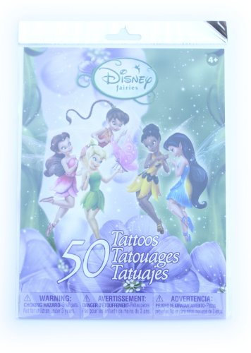 Savvi Disney Temporary Tattoos, Set of 50, Disney Fairies -