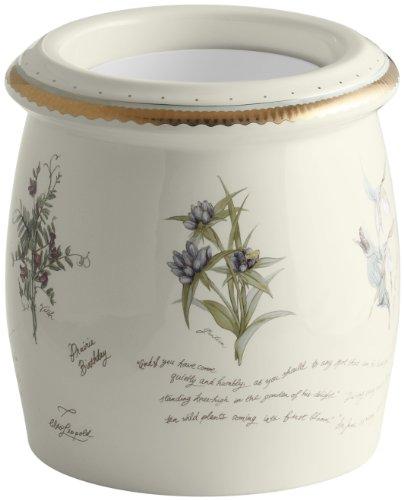 KOHLER K-14317-WF-96 Prairie Flowers Floor Container, Biscuit