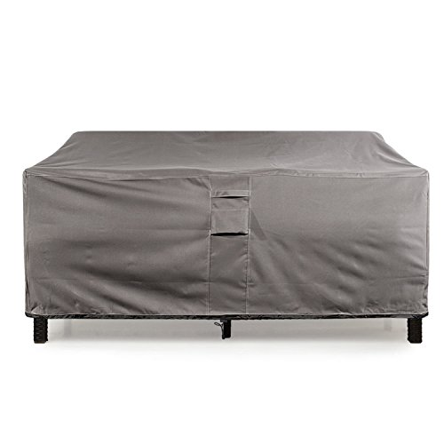 (KHOMO GEAR Large GER-1037 Waterproof Heavy Duty Outdoor Lounge Loveseat Sofa Patio Cover, (88'' x 32.5'' x 33