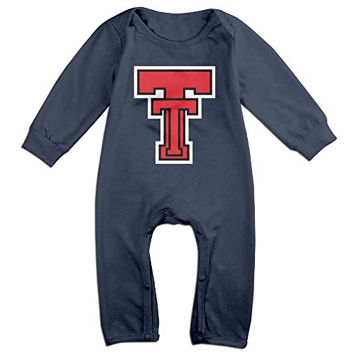 Raider Mascot Costume (JJVAT Texas Tech University Long Sleeve Playsuit For 6-24 Months Toddler Size 6 M Navy)