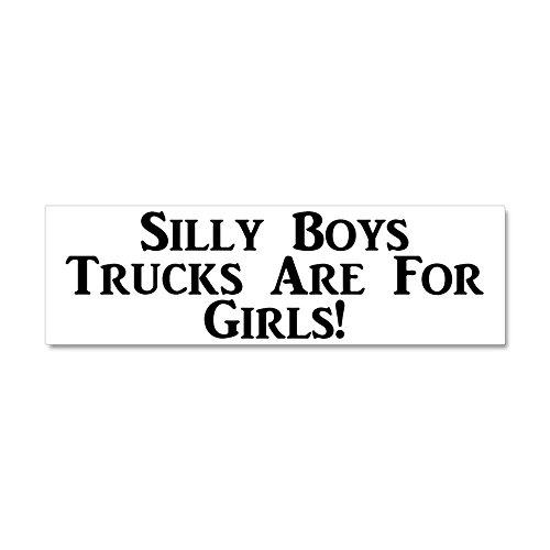 CafePress - Trucks are for Girls Car Magnet 10 X covid 19 (Silly Boys Trucks coronavirus)