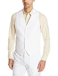 Men's Easy Care Linen-Blend Vest