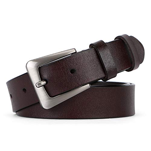 - Women Leather Belt for Jeans Pants Plus Size Casual Ladies Belt with Alloy Square Buckle By JASGOOD