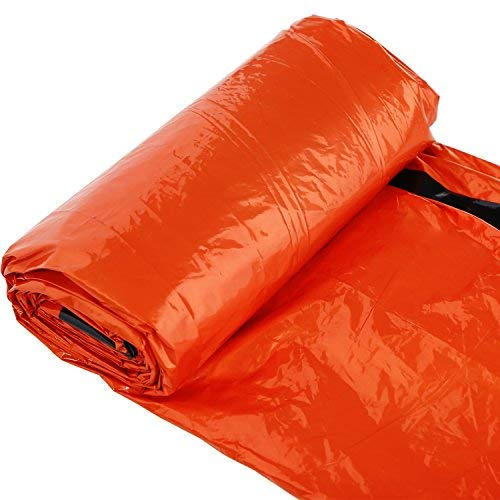 LOHASEE Emergency Survival Mylar Thermal Sleeping Bag Orange 84\