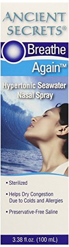 Seawater Nasal Spray 3.38 OZ, 3 pack