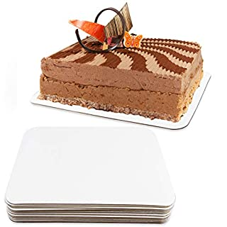 White Quarter Sheet Cake Board Rectangle Grease Proof Sturdy Pad Full 12 Pack Set Boards Bakery
