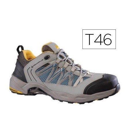 Delta plus calzado - Zapato piel nubuck+malla 3d gris/naranja talla 46