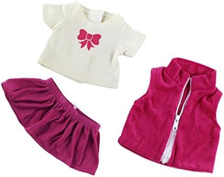 Amazon.es: Conjunto Ropa Camiseta Jeans Top Falda Plisada para ...