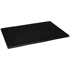 "18"" x 12"" Bar Service Mat, Black"