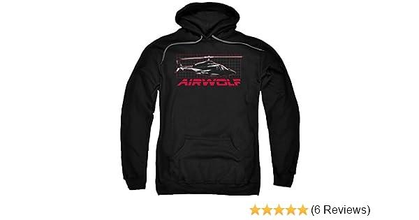 Airwolf TV Show Helicopter on GRID Licensed Adult Sweatshirt Hoodie
