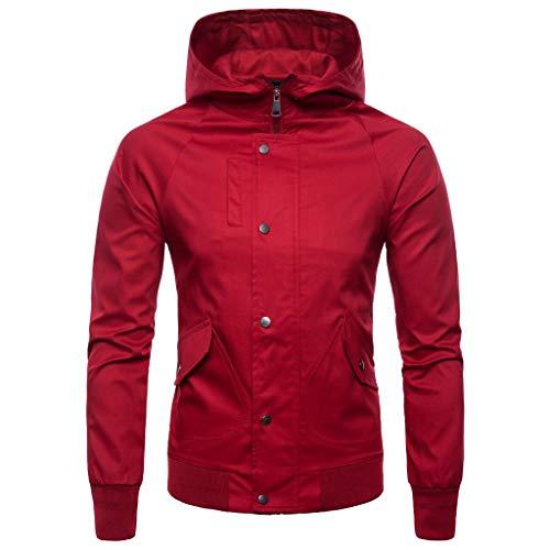 Cappotto Uomo Cappuccio Classico Dolcevita Tops Rosso Collo Qinsling Sweatshirt Maniche Inverno Maglione Elegante Felpa Camicetta F Con Cerniera Lunghe Distintivo Hoodie CBvq55