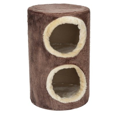 20″ Two Story Fur Cat Condo Color: Chocolate with Beige Trim, My Pet Supplies
