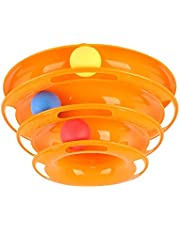 Tower of Tracks Cat Toy Pet Cat Toy Three-Layer Tricolor Ball Interactive Cat Toys Cat Catching Ball Game Toys