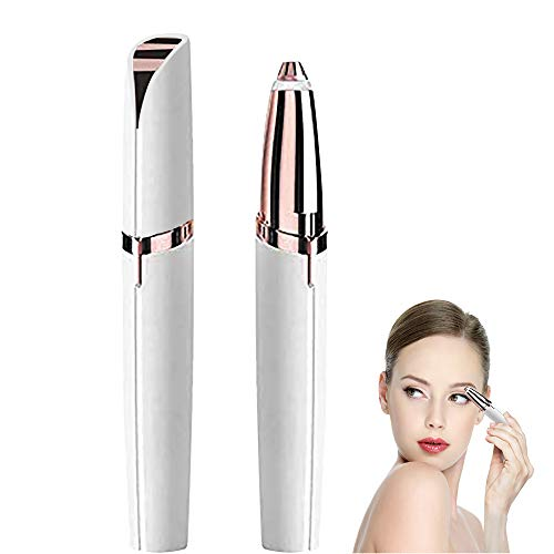 Eyebrow Hair Remover Brows Best Eyebrow Trimmer, Painless Hair Remover for Women, Protable Hair Removal for Good Finishing and Well Touch (White)