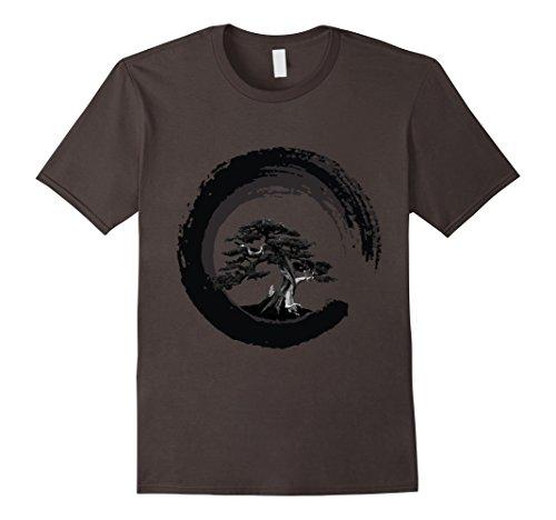 Bonsai Tree Japanese Calligraphy Circle   Buddhist Zen Shirt