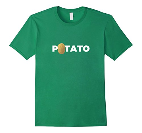 Mens Real Potato Funny Vegetable Food Funny Side Dish T-Shirt 3XL Kelly Green