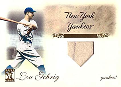 info for d9fca 97172 Amazon.com: 2009 Topps Tribute Relics #83 Lou Gehrig Game ...