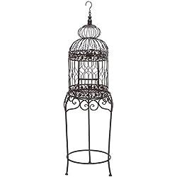 "Deco 79 55122 Metal Bird Cage, 47"" x 14"""