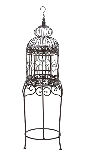 "Deco 79 55122 Metal Bird Cage, 47"" x 14"" from Benzara"