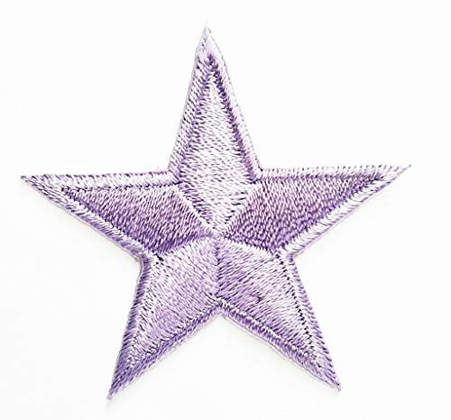 - PP Patch Mini Purple Sticker Embroidery Star Patches Sticker Cartoon Kids Design Badges Iron On Sewing Kids Clothing Hat Shoes for Reward Kids Happy Birthday Gift