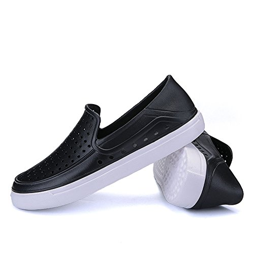 ⚡HebeTop ⚡Men's Splendid Midi Perf Slip-on Sneakers with Concealed Orthotic Arch Support Black