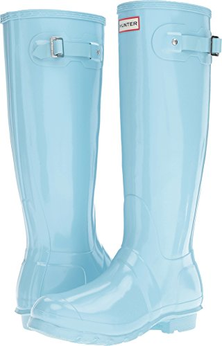 Hunter Women's Original Tall Gloss Pale Mint 6 M US
