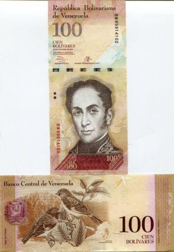 Venezuela Paper Banknotes 100 Bolivares -