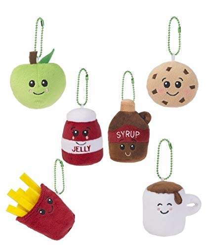 Ganz Scrumchums Series 1 Plush Set of 6 Apple - Fries - Jelly - Syrup - Cookie - Marshmallow ()
